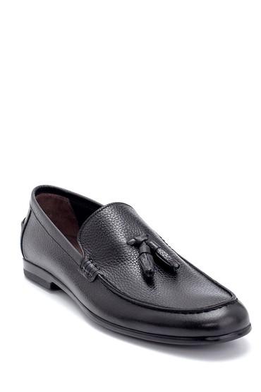 Siyah Erkek Deri Püskül Detaylı Loafer 5638247298