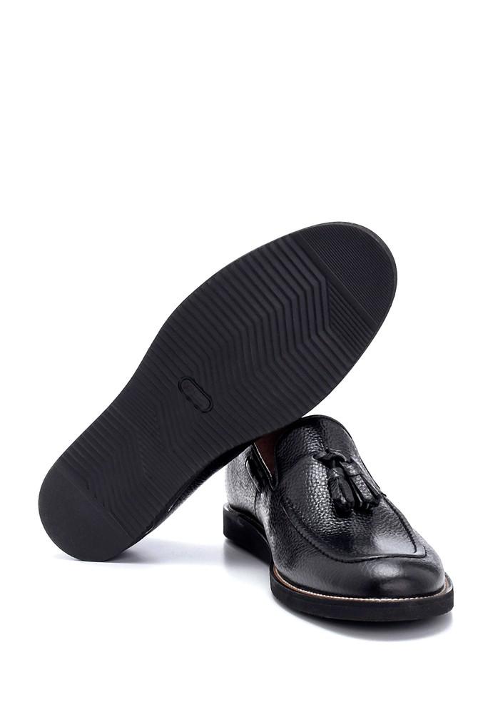 5638250013 Erkek Deri Püskül Detaylı Loafer