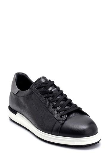 Siyah Erkek Deri Sneaker 5638253317