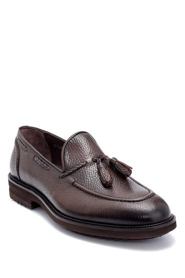 Kahverengi Erkek Deri Püskül Detaylı Loafer 5638266979