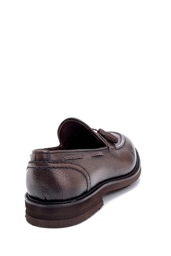 5638266979 Erkek Deri Püskül Detaylı Loafer