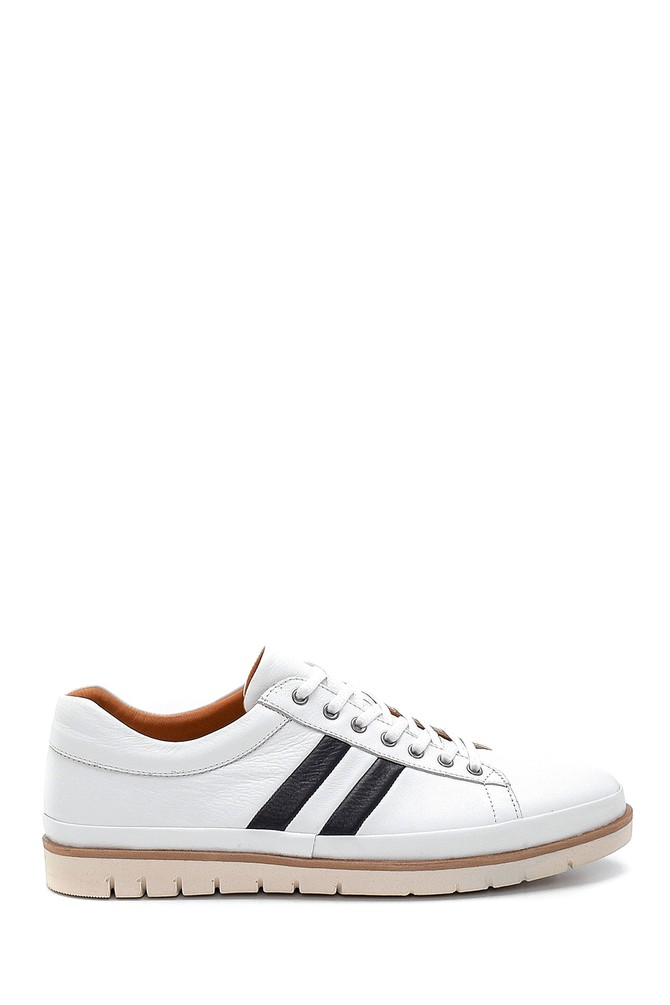 Beyaz Erkek Deri Sneaker 5638273351