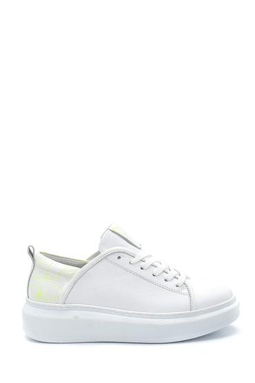 Beyaz Kadın Deri Sneaker 5638272978