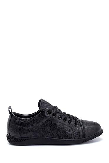 Siyah Kadın Deri Sneaker 5638270214