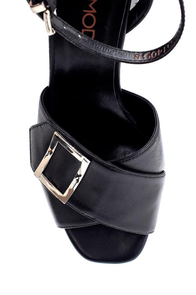 5638294796 Kadın Deri Topuklu Sandalet