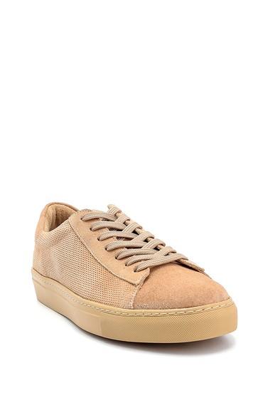 Bej Erkek Süet Deri Sneaker 5638245716
