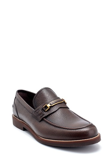 Kahverengi Erkek Deri Klasik Loafer 5638249918