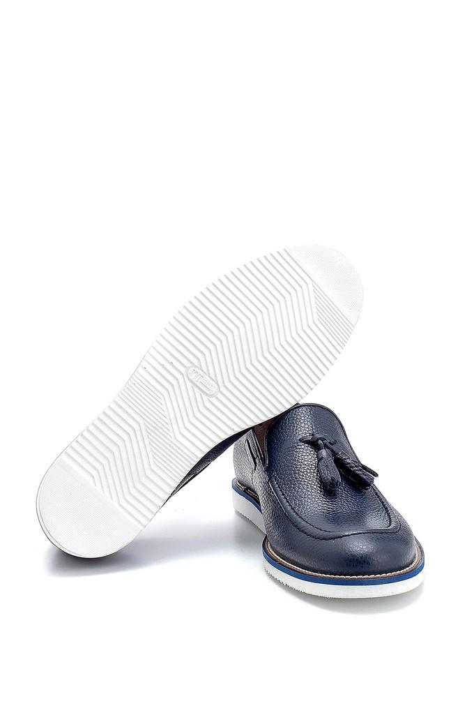 5638250015 Erkek Deri Püskül Detaylı Loafer