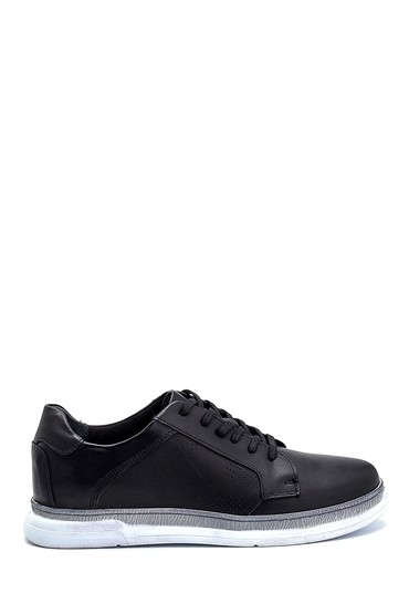 Siyah Erkek Deri Sneaker 5638254681