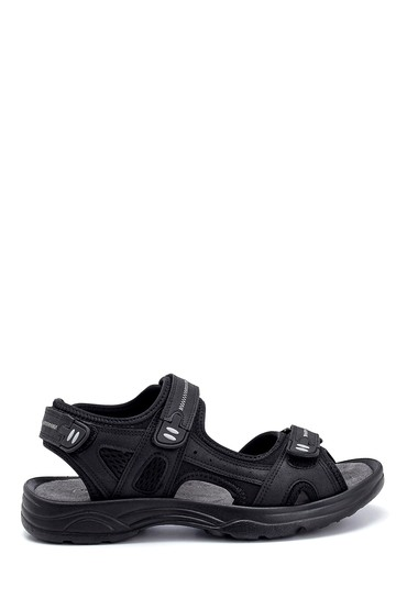 Siyah Erkek Deri Sandalet 5638259496