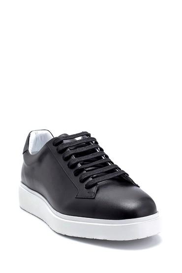 Siyah Erkek Deri Sneaker 5638275486