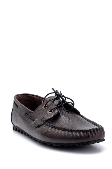 Kahverengi Erkek Deri Bağcık Detaylı Casual Ayakkabı 5638275980