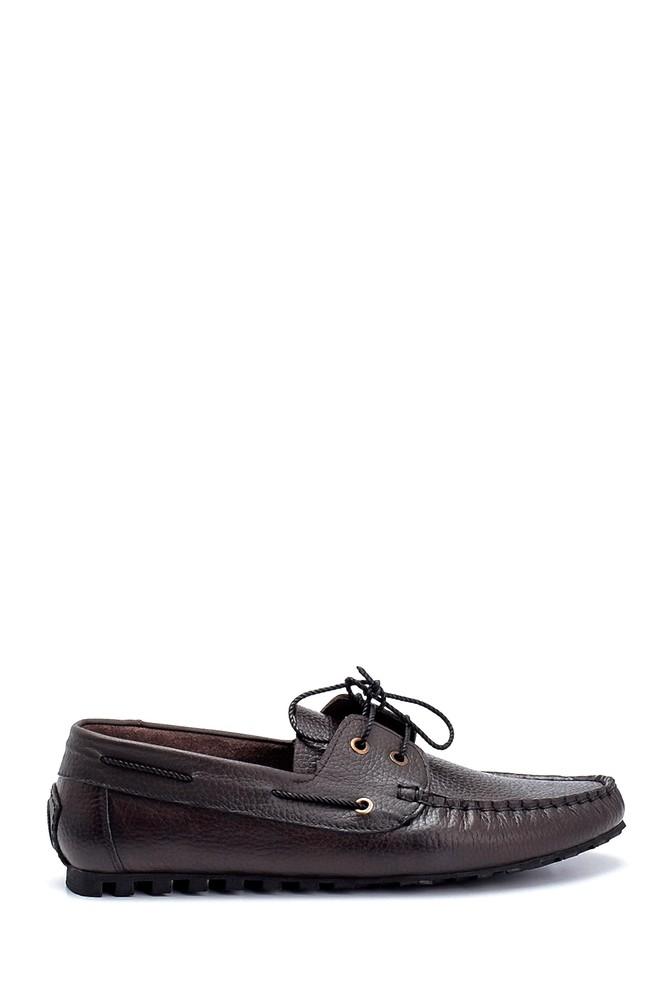 Kahverengi Erkek Deri Bağcık Detaylı Casual Ayakkabı 5638275992