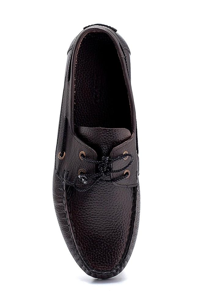 5638275992 Erkek Deri Bağcık Detaylı Casual Ayakkabı