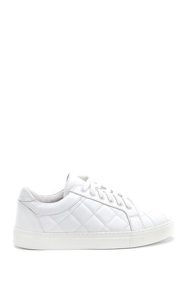 Beyaz Kadın Deri Sneaker 5638288429