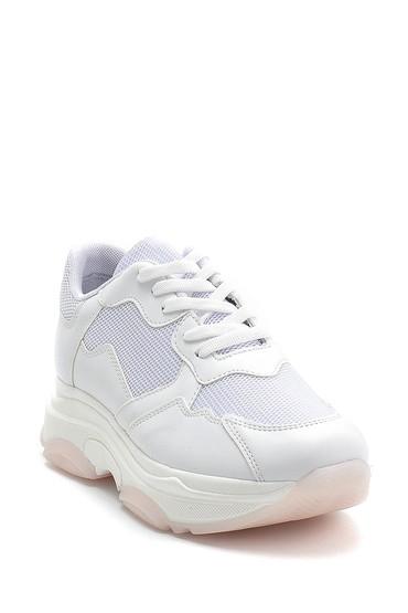 Beyaz Kadın Yüksek Tabanlı Sneaker 5638292420