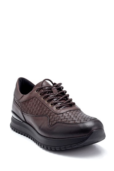 Kahverengi Erkek Deri Sneaker 5638291586