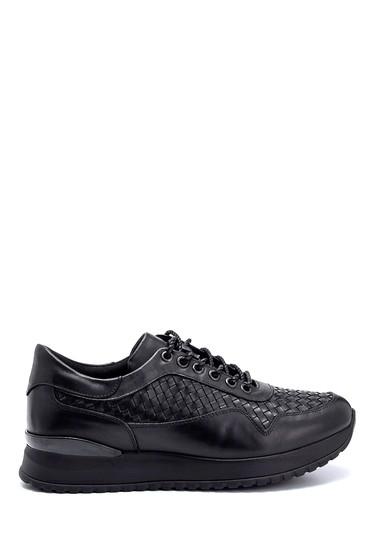 Siyah Erkek Deri Sneaker 5638291585