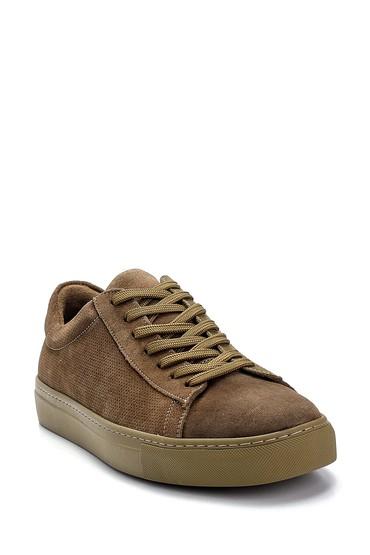 Haki Erkek Süet Deri Sneaker 5638245717