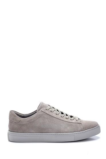 Gri Erkek Süet Deri Sneaker 5638245718