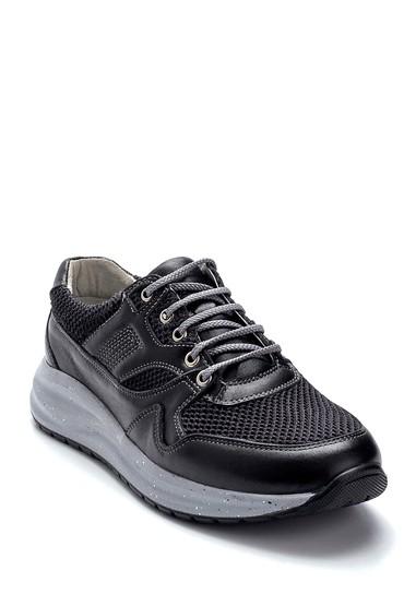 Siyah Erkek Deri Sneaker 5638248651