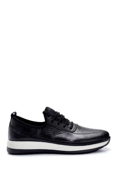 Siyah Erkek Deri Sneaker 5638248698