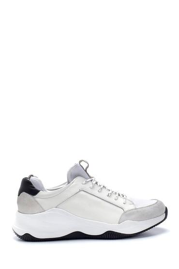 Beyaz Erkek Deri Sneaker 5638253243