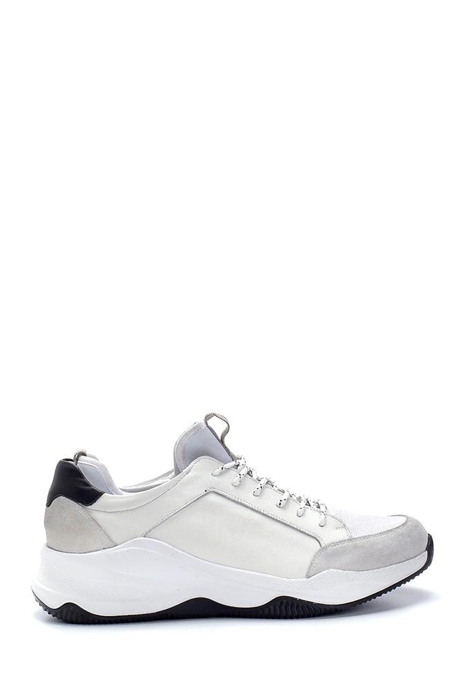 Beyaz Erkek Deri Sneaker 5638253263