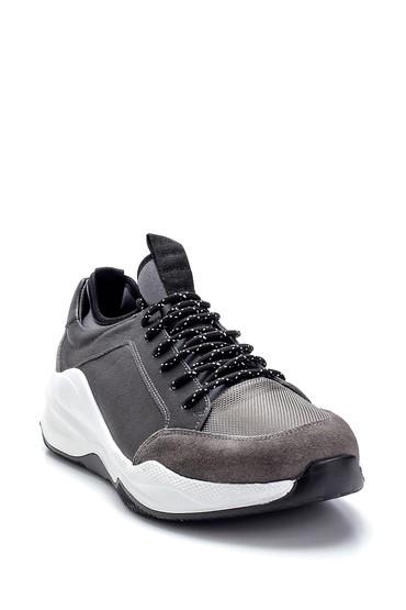 Gri Erkek Deri Sneaker 5638253242