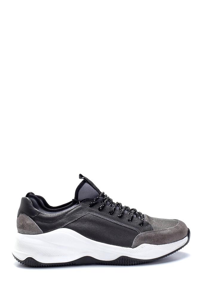 Gri Erkek Deri Sneaker 5638253253