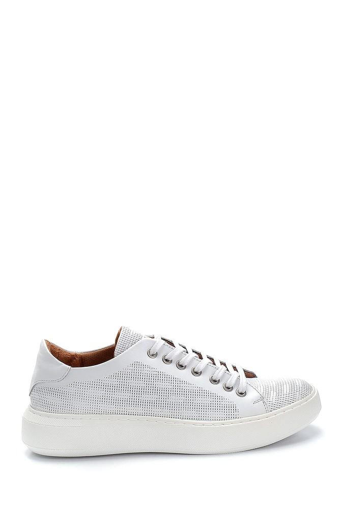 Beyaz Erkek Deri Sneaker 5638254582