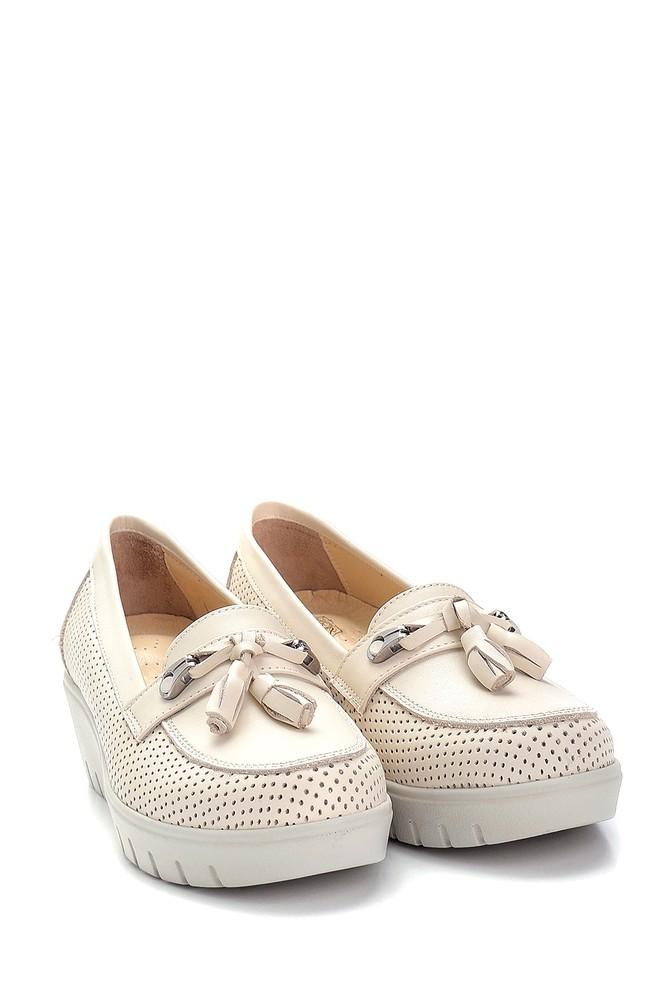 5638265456 Kadın Deri Dolgu Topuk Ayakkabı