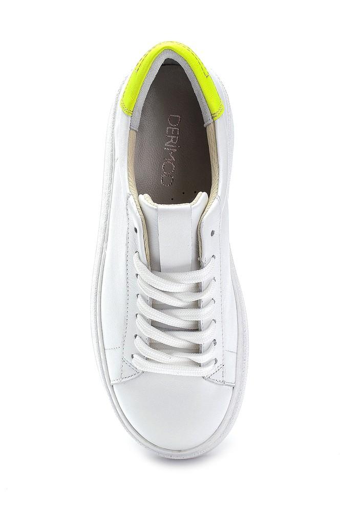 5638272930 Kadın Deri Yüksek Tabanlı Sneaker
