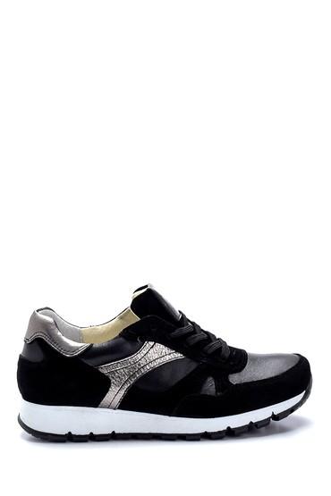Siyah Kadın Deri Sneaker 5638272941