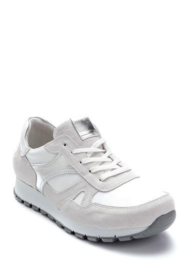 Beyaz Kadın Deri Sneaker 5638272949