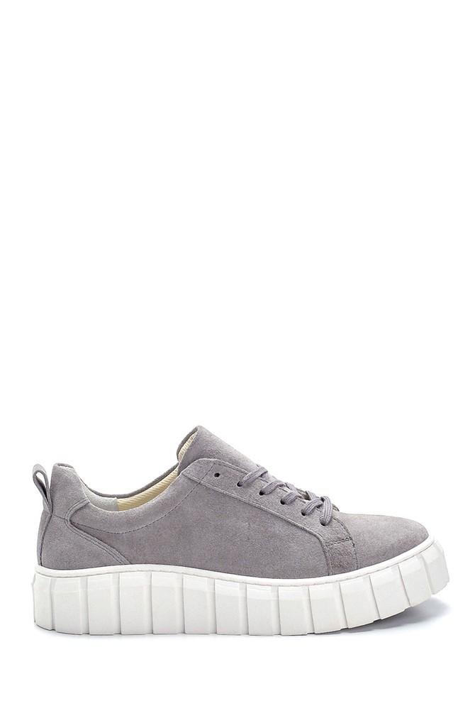 Gri Kadın Süet Sneaker 5638273009