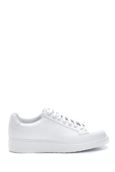 Beyaz Erkek Deri Sneaker 5638275476