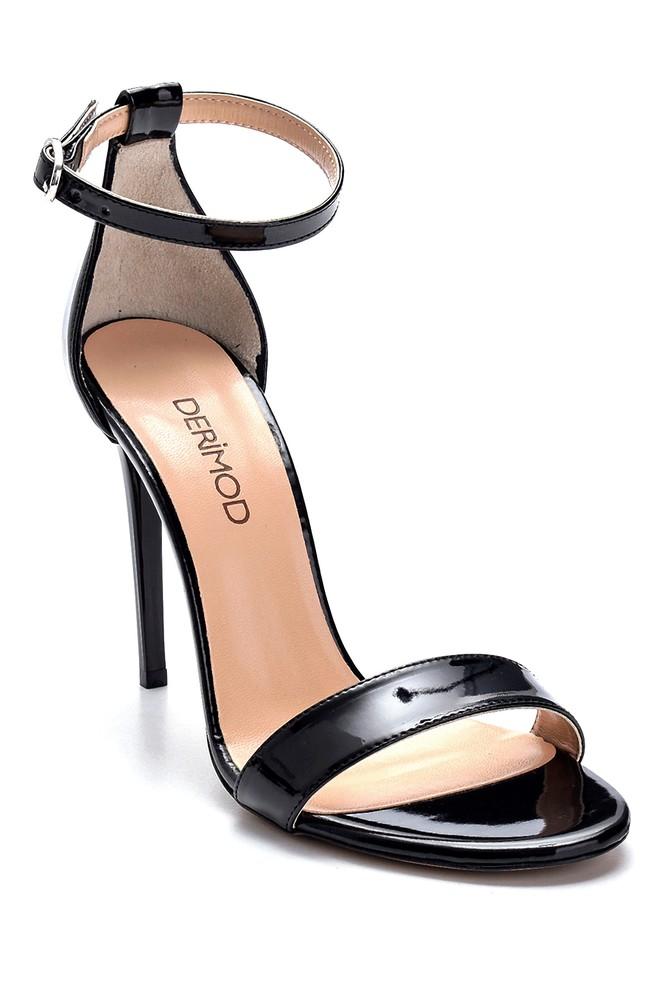 5638273615 Kadın Rugan Yüksek Topuklu Sandalet