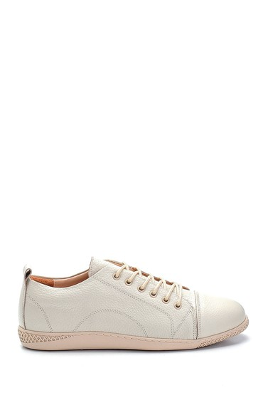 Bej Kadın Deri Sneaker 5638270213