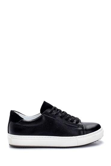 Siyah Kadın Deri Sneaker 5638270235