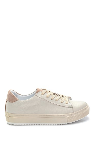 Bej Kadın Deri Sneaker 5638270237