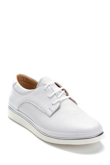 Beyaz Kadın Deri Casual Ayakkabı 5638276092