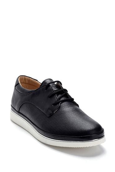 Siyah Kadın Deri Casual Ayakkabı 5638276094