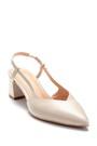 5638282470 Kadın Deri Kalın Topuklu Ayakkabı