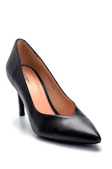 Siyah Kadın Deri Stiletto 5638282489