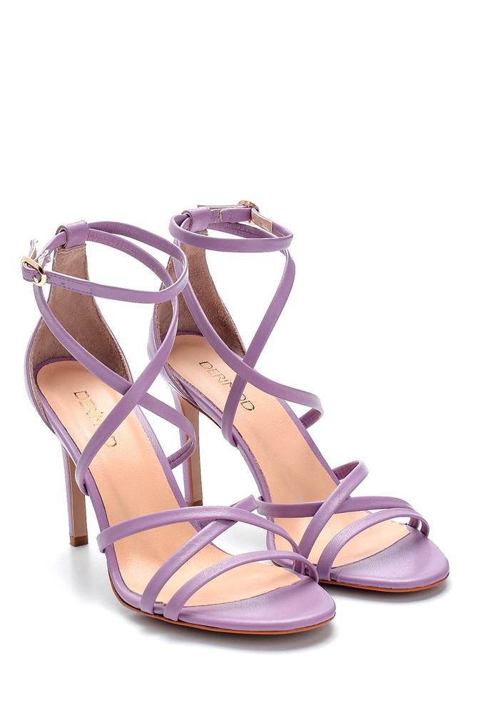 5638289114 Kadın Deri Topuklu Sandalet