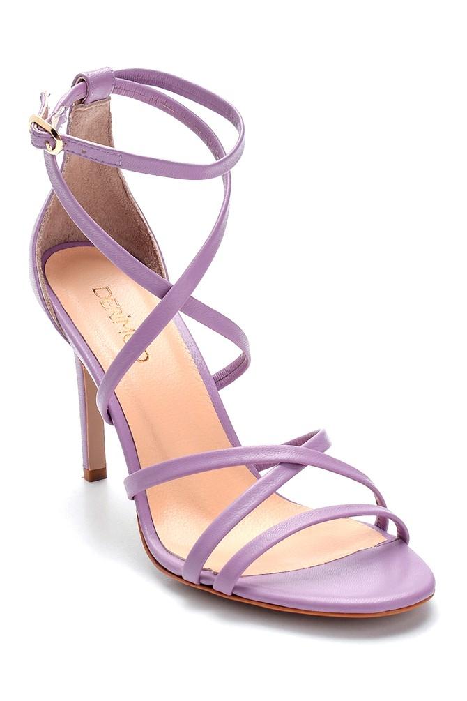 5638289114 Kadın Deri Topuklu Ayakkabı