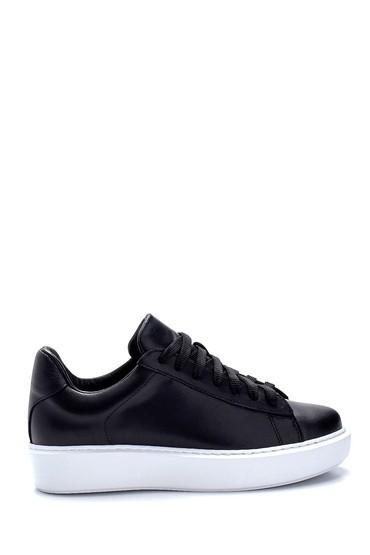 Siyah Kadın Deri Sneaker 5638288454