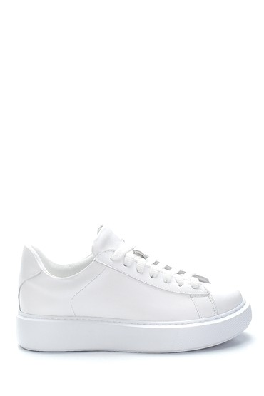 Beyaz Kadın Deri Sneaker 5638288455