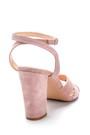 5638291455 Kadın Süet Topuklu Sandalet